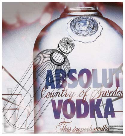 absolut vodka photo collage